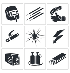 Welding icon collection vector