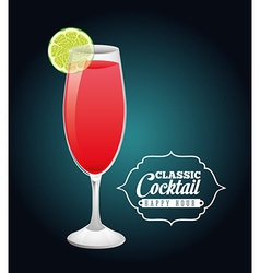 Classic cocktail vector