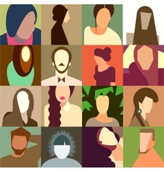 Set of various avatar faces vector