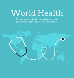 World health day celebrating card or poster design vector