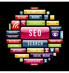 Internet seo concept circle vector