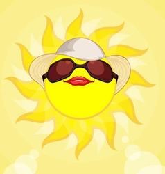 Sun summer holiday woman vector