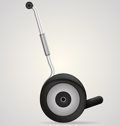 Segway a side view vector