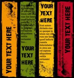 Vertical grunge banners summer vector