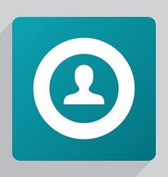 Flat profile icon vector
