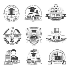 Justice label set vector