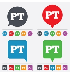 Portuguese language sign icon pt translation vector
