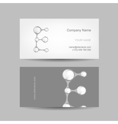 Business card design with letter e vector