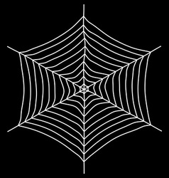 Spyder web isolated on a black background vector