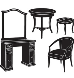 Retro furniture vector