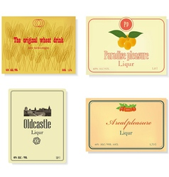 Set of a retro of labels of alcoholic beverages vector