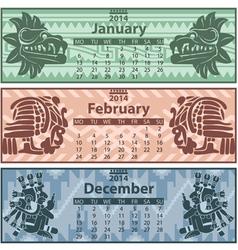 Calendar 2014 winter vector