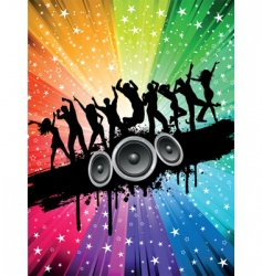 Grunge party background vector