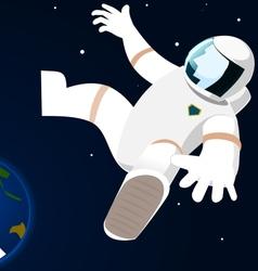 Astronaut in open space vector