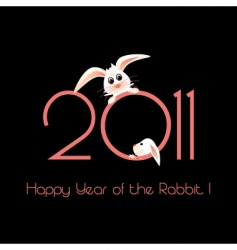 Happy year of the rabbit vector