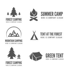Set of modern camp badges logo emblem and vector