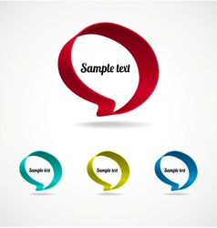 Ribbon speech bubble vector