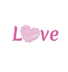 Love happy valentines day font type vector
