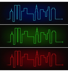 City pulse vector