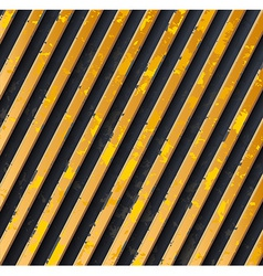 Yellow caution stripes vector