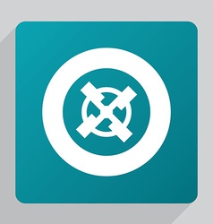 Flat mill icon vector