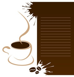 Coffee template vector