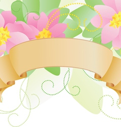 Pink scroll vector