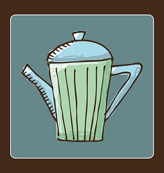 Teapot design vector