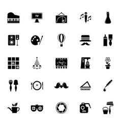 Art activity icons on white background vector