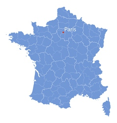 Map of france vector