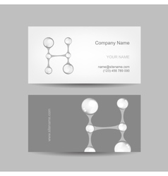 Business card design with letter h vector