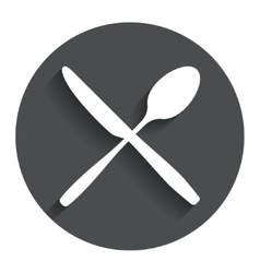 Eat sign icon cutlery symbol knife and spoon vector