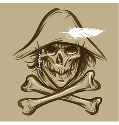 Skull of the pirate vector