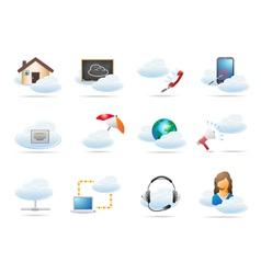 Cloud computing concept icon vector