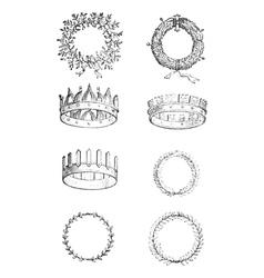 Roman crowns vintage engraving vector