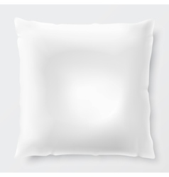 Isolated white pillow with shadow vector