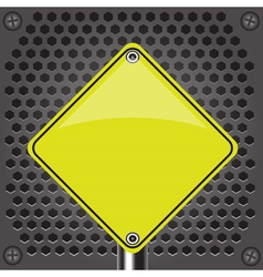Yellow sign vector