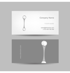 Business card design with letter i vector