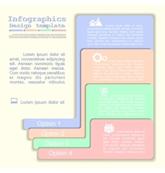 Infographics with elements and icons vector