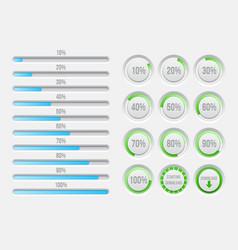 Progress bars elements vector