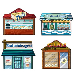 Shops set vector
