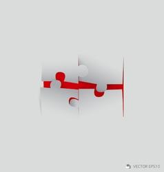 Paper cut of puzzle vector