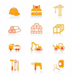 Construction icons  juicy series vector