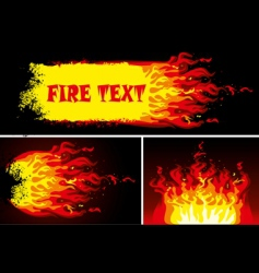 Fire background set vector