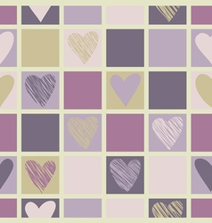 Geometric pattern with hearts vector