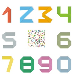 Set of original mathematical figures from paper vector