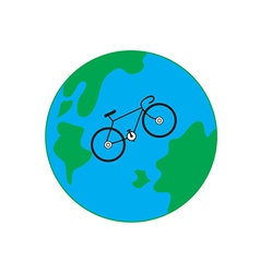 Bicycle earth vector