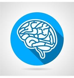 Round icon for brain vector