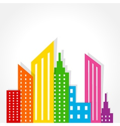 Abstract colorful building design vector