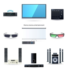 Home cinema entertainment set vector